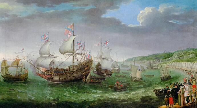 Willaerts_Adam_The_Embarkation_of_the_Elector_Palantine_Oil_Canvas-huge