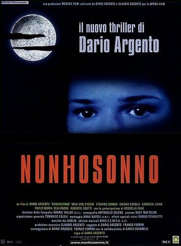 Non ho sonno: Directed by Dario Argento. With Max von Sydow, Stefano Dionisi, Chiara Caselli, Gabriele Lavia. An older, retired police detective and a young amateur sleuth team up to find a serial killer who